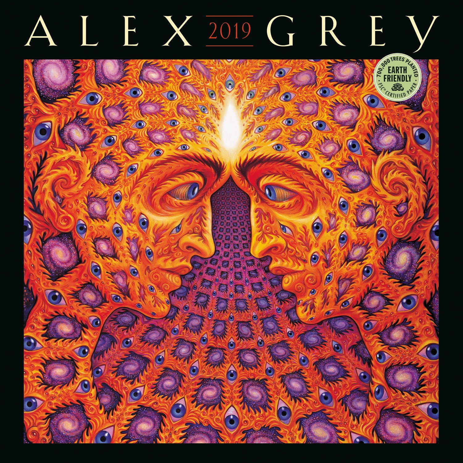 alex grey 2019 wall calendar