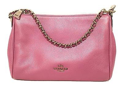 9e4712dd4cd COACH F22207 CARRIE CROSSBODY SILVER METALLIC LILAC  Handbags ...