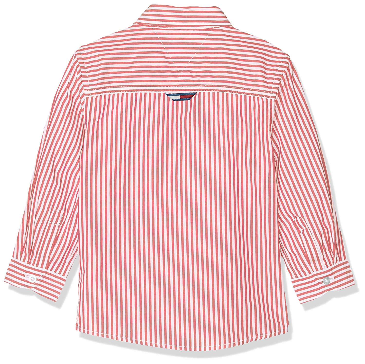 Tommy Hilfiger Boys Vertical Stripe Shirt L//S Long Sleeve Top