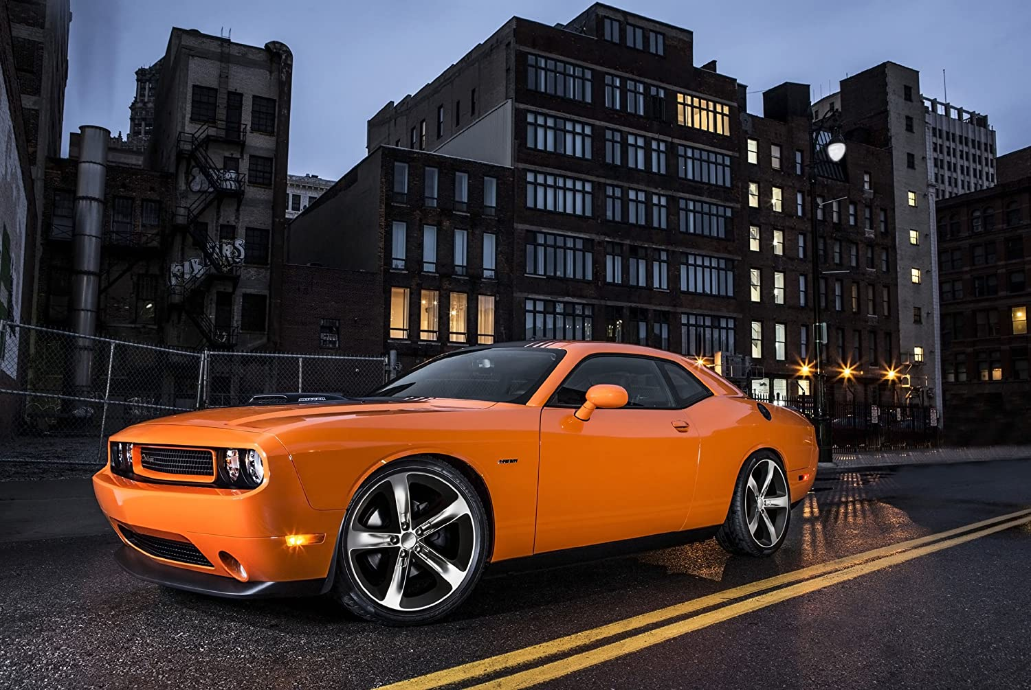 Wall Art Front Of A Dodge Challenger R//T Muscle Car Photo Car Poster Print