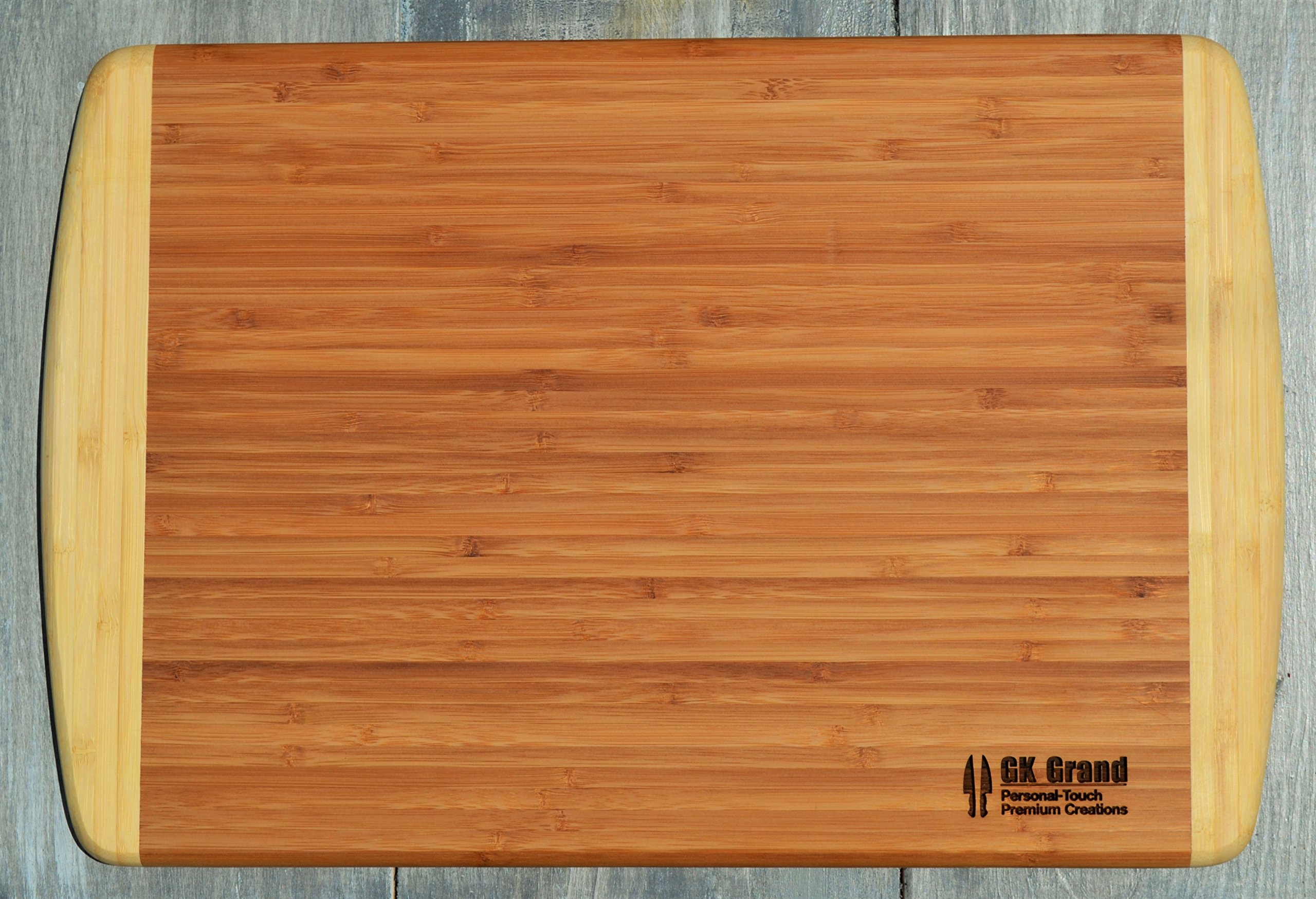 GIFT DAD FATHER ~ Engraved Large 2-Tone Bamboo Cutting Board for Dad ~ 2-Sided Design ~ Engraved Side Designed For Display ~ Reverse Side For Usage ~ Birthday Gift Dad Christmas Gift Fathers Day Gift by GK Grand Personal-Touch Premium Creations (Image #4)