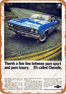 Wall-Color 7 x 10 Metal Sign - 1969 Chevrolet Chevelle - Vintage Look Reproduction