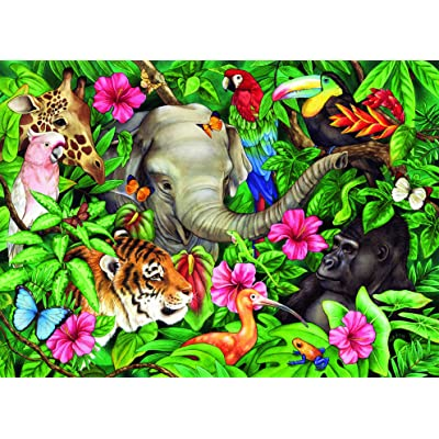 Ravensburger Tropical Friends - 60 Piece Jigsaw Puzzle for Kids – Every Piece is Unique, Pieces Fit Together Perfectly: Toys & Games
