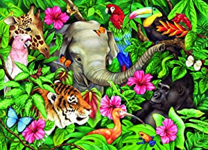 Ravensburger Tropical Friends - 60 Piece Jigsaw Puzzle for Kids – Every Piece is Unique, Pieces Fit Together Perfectly