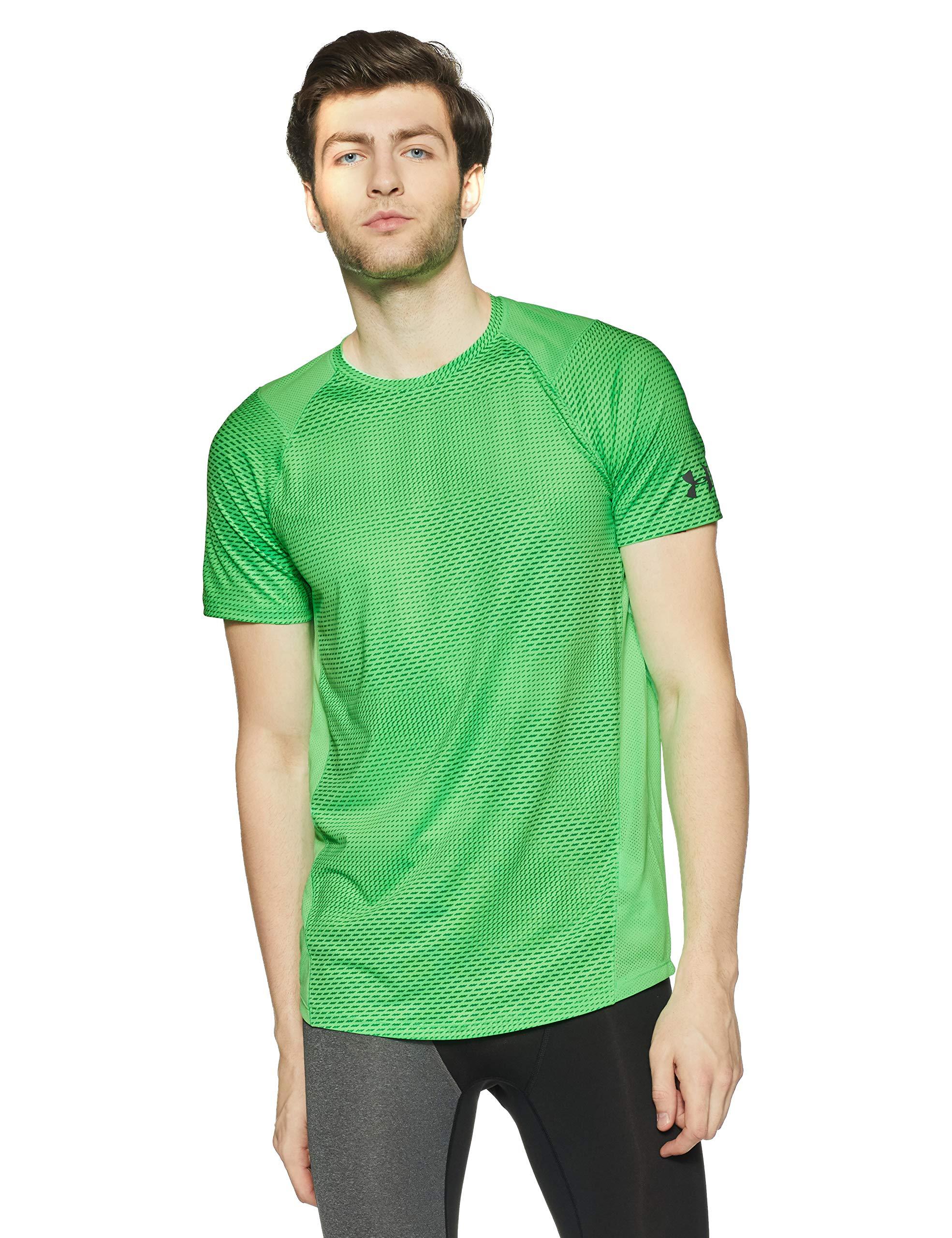 Under Armour Men's MK-1 Short Sleeve Shirt, Arena Green (701)/Graphite, Small