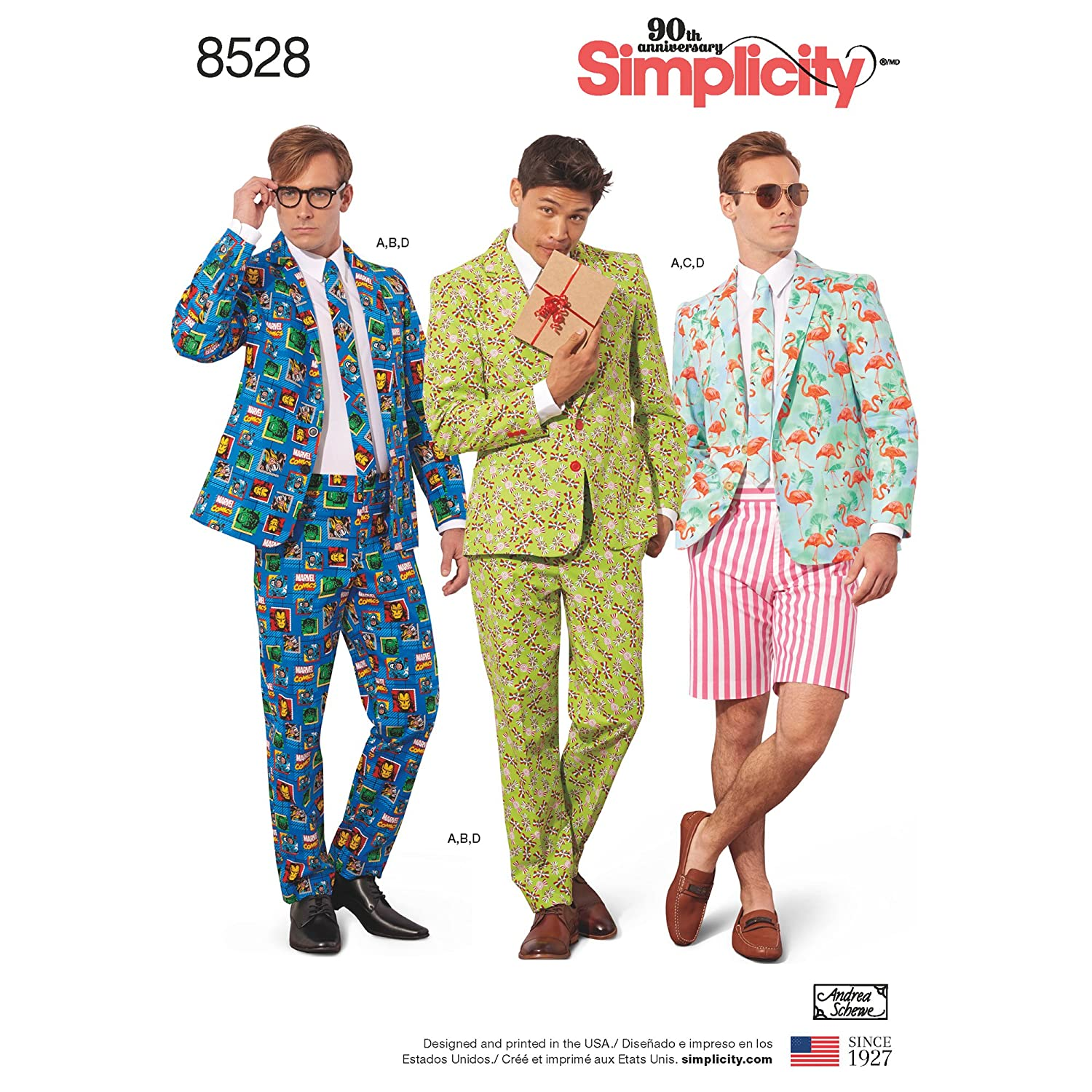 Simplicity 8528 Mens Suit Costume Sewing Pattern Sizes 34-42