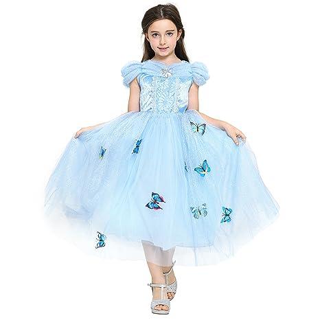 c74e58a6cda46 Katara - Vestito di Cenerentola Costume da principessa delle fiabe ...