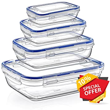 Locku0026Fresh BPA Free Plastic Sealed Food Storage Container Set 4 pcs 11 oz. - 57  sc 1 st  Amazon.com & Amazon.com: Locku0026Fresh BPA Free Plastic Sealed Food Storage ...