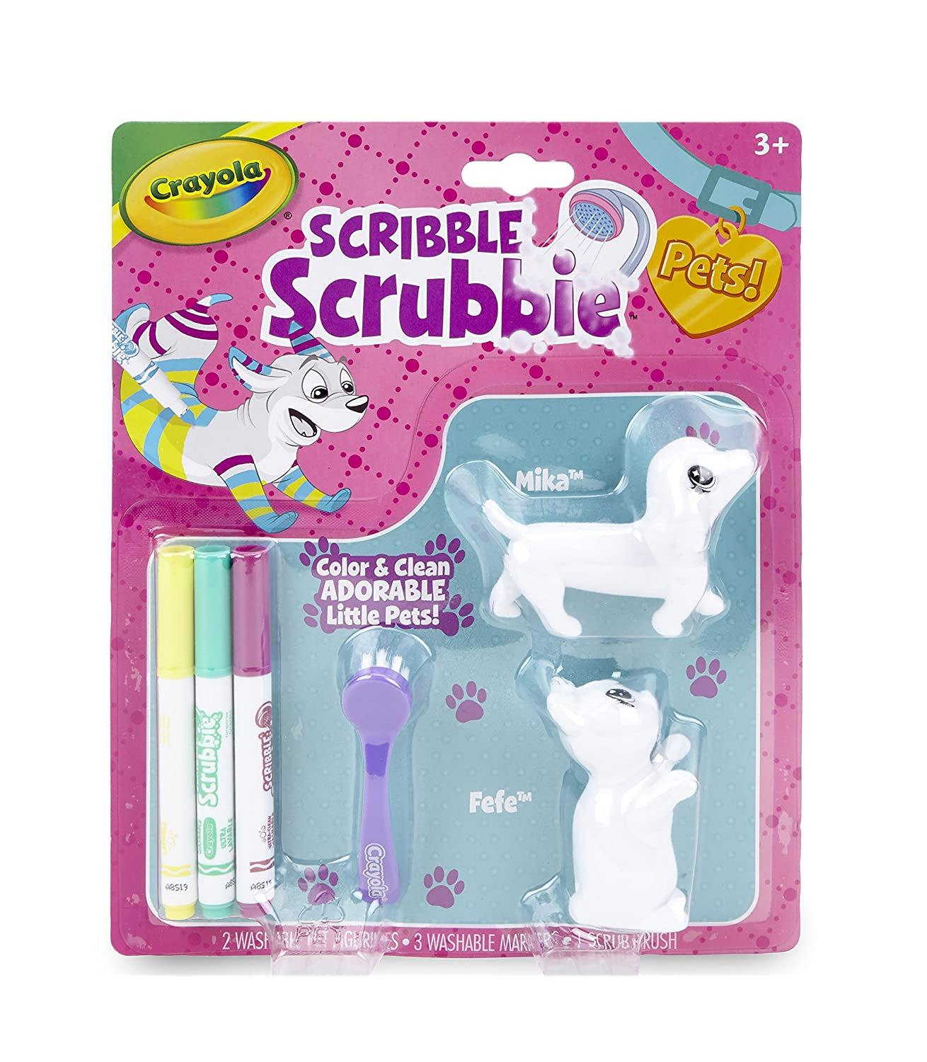 Crayola Scribble Scrubbie, Color & Wash Pet Toys for Kids, Gift, Ages 3, 4, 5, 6 Binney & Smith 74-7254
