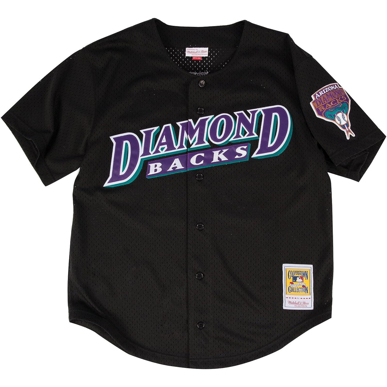 Amazon.com   Mitchell   Ness Randy Johnson Black Arizona Diamondbacks  Authentic Mesh Batting Practice Jersey   Sports   Outdoors 7a454bfa9