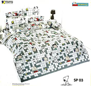 Lenzuola Matrimoniali Snoopy.Amazon Com Toto Snoopy Peanuts Bed In A Bag Set Queen Sp03 1