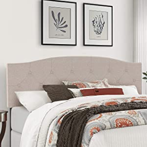 Hillsdale Provence Upholstered Headboard, King/Cal King, Linen