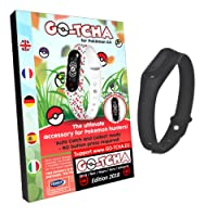 Go-Tcha LED-Touch-Wristband for Pokémon Go BLACK Edition (Alternative for Go Plus)