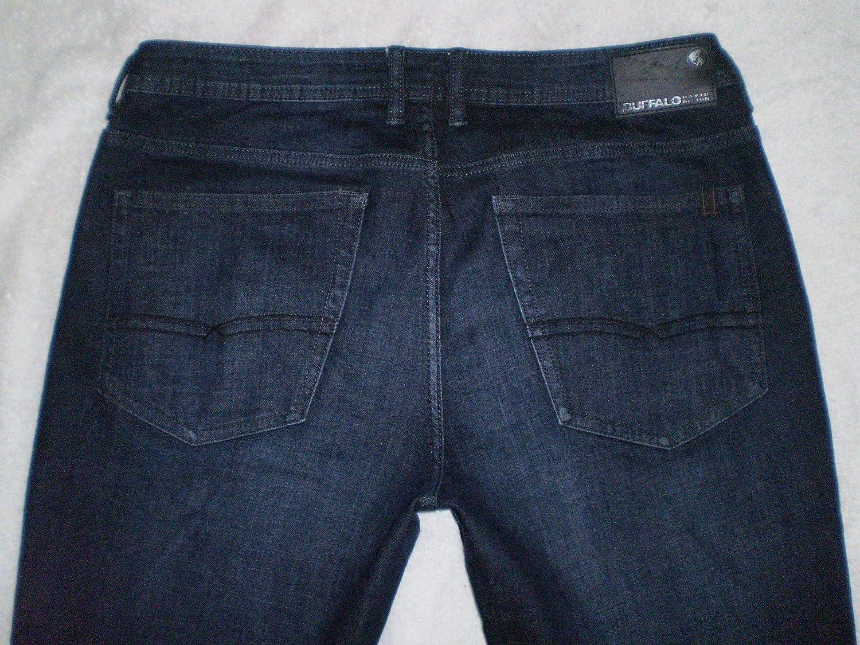 Buffalo David Bitton Mens Jackson-X Straight Leg Blue Denim Jeans