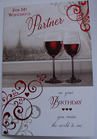 For My Partner Male Birthday Card Good Quality With A Lovely Verse