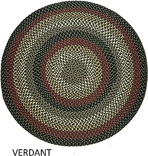 product image for Rhody Rug Jamestown Indoor/Outdoor Braided Rug Verdant 10' Round Reversible 10' Round Indoor Round