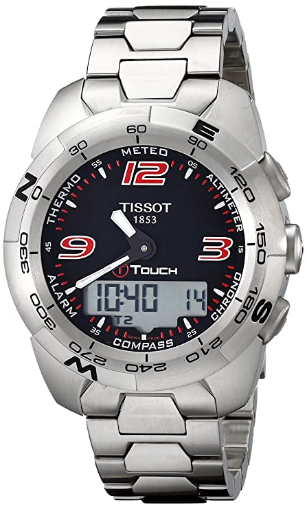 Amazon.com: Tissot Mens T0134201105700 T-Touch Expert Stainless Steel Black Dial Watch: Tissot: Watches