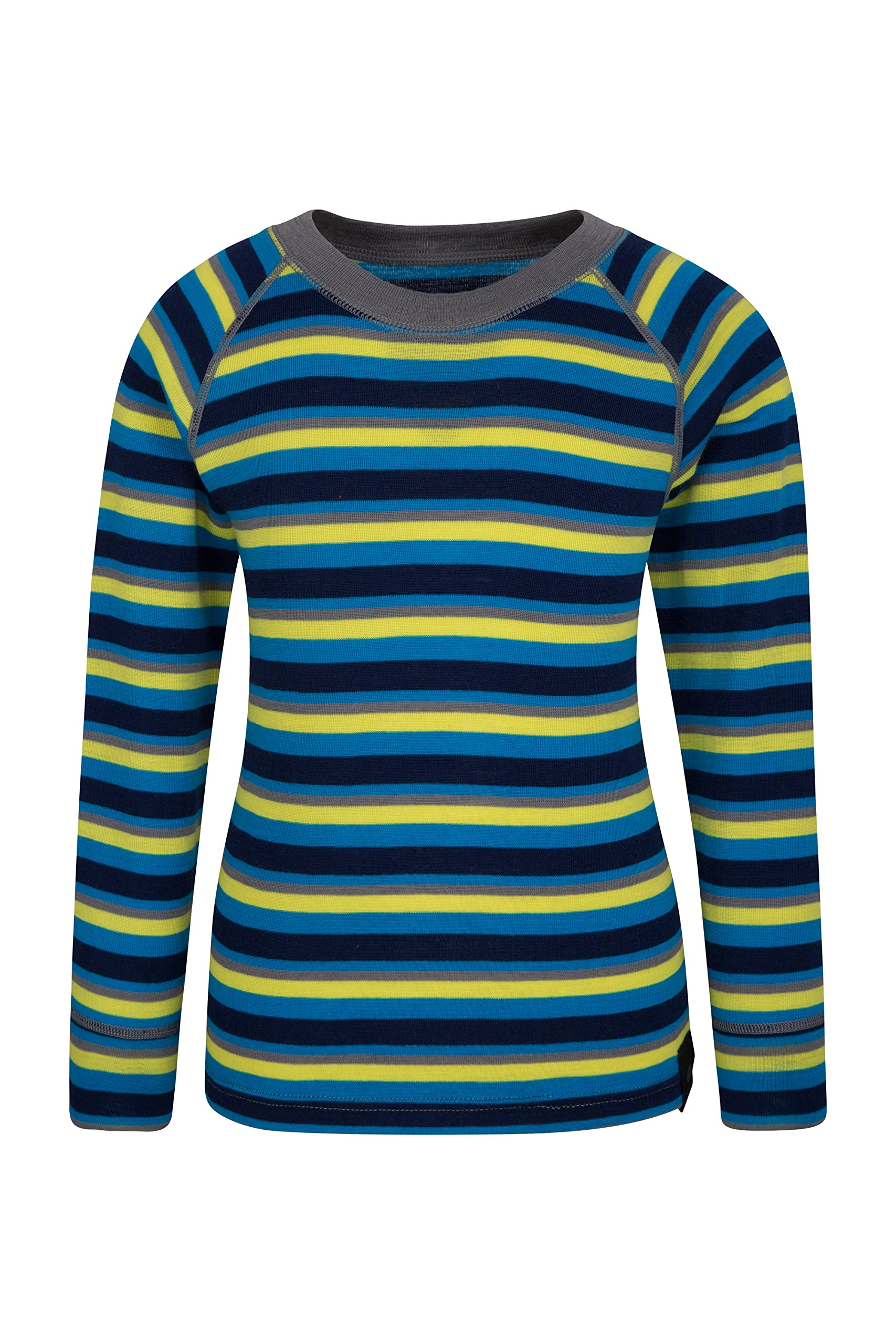 Mountain Warehouse Merino Kids Top- Breathable, Light Childrens Tshirt Blue 5-6 Years