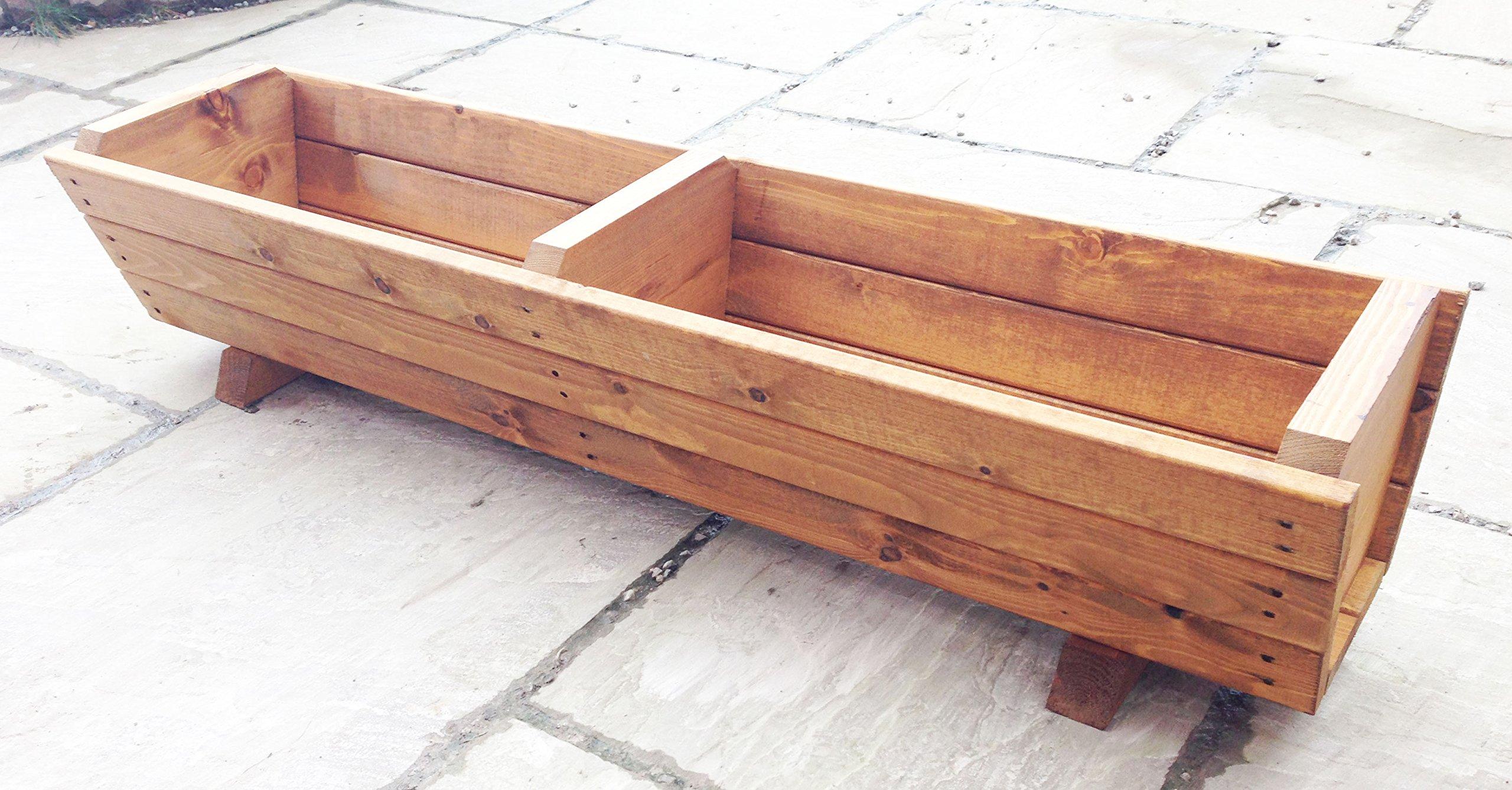 large wooden planters. Black Bedroom Furniture Sets. Home Design Ideas