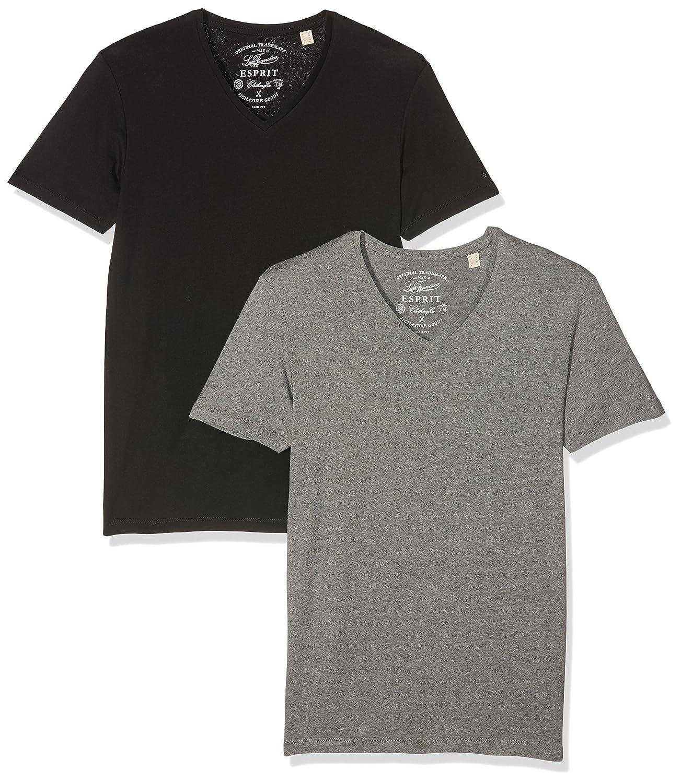 cfede28d ESPRIT 126ee2n003-lc, Camiseta para Hombre, Pack de 2