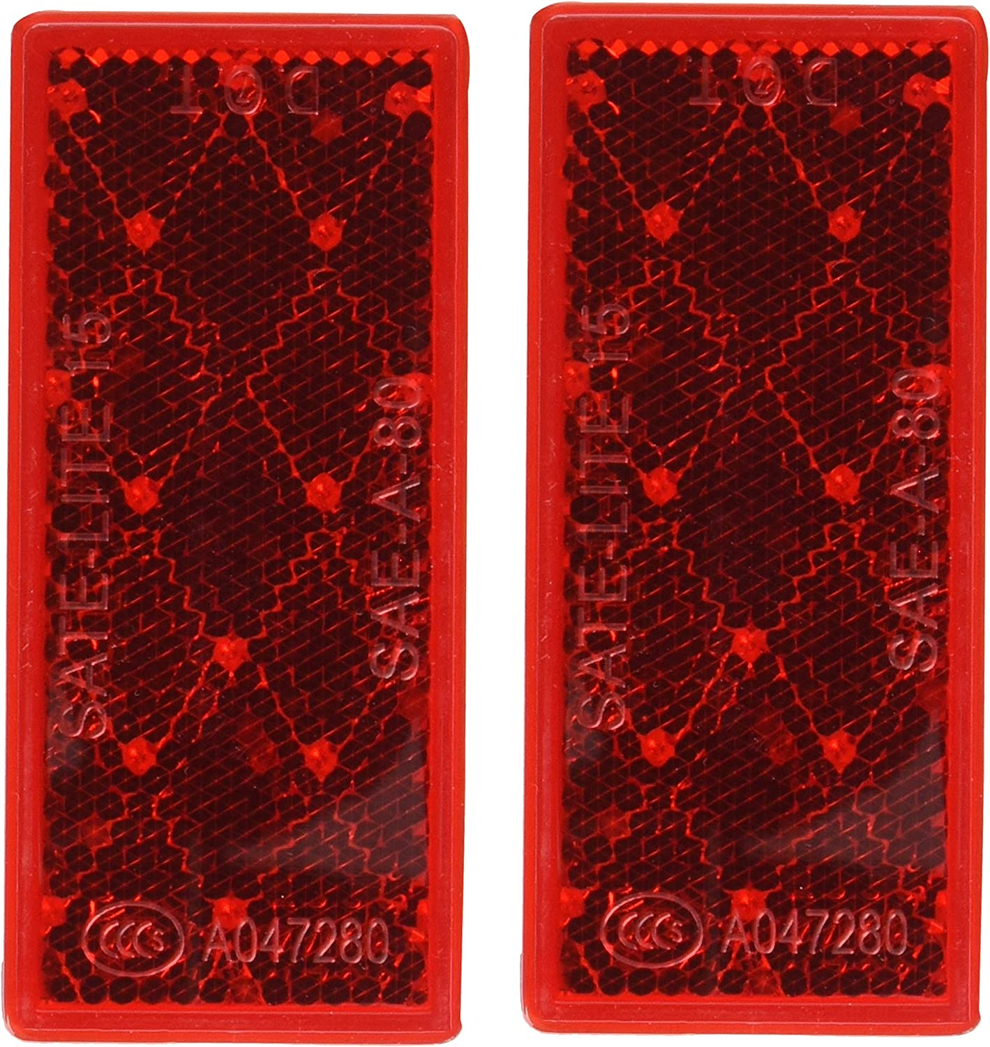 Peterson Manufacturing V483R Red 3-1//8 x 1-3//8 Reflector