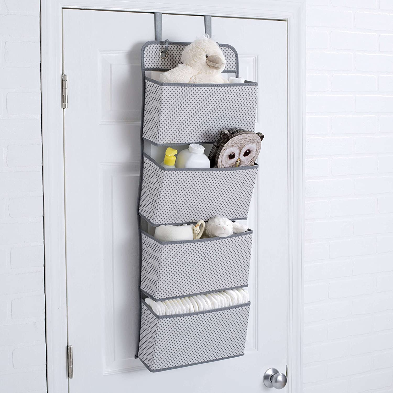 Grey SS2008-063 Delta Children 4 Pocket Over The Door Hanging Organizer