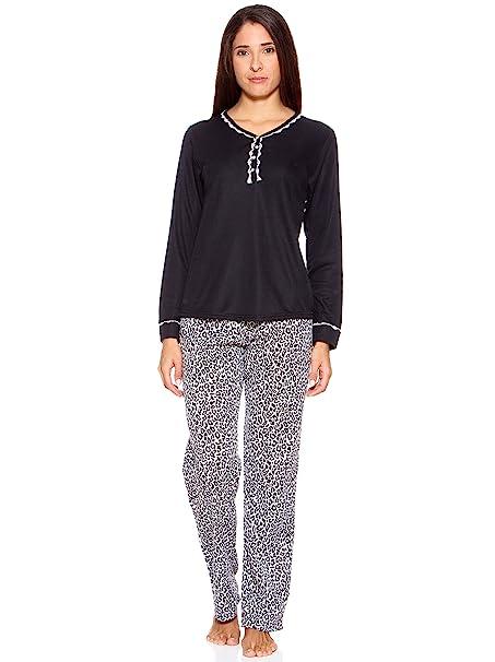KUMY Pijama Negro L