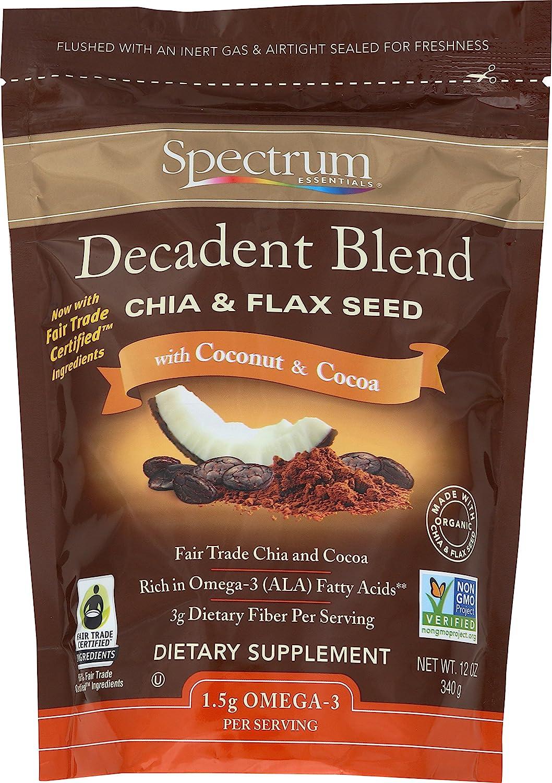 Mezcla decadente Chia y semilla de lino, con coco y cacao ...