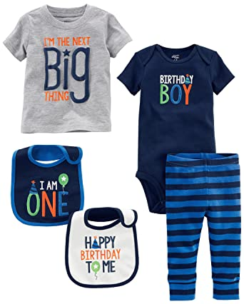 Simple Joys By Carters Baby Boys 5 Piecemy 1st Birthday Set Blue