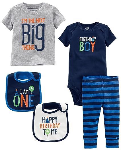 Simple Joys By Carters Baby Boys 5 Piecemy 1st Birthday Set Blue