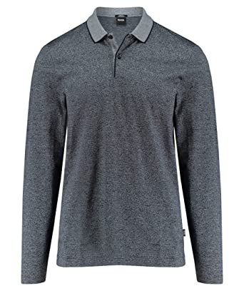 BOSS - Polo - Manga Larga - para Hombre Azul Azul Marino M: Amazon ...