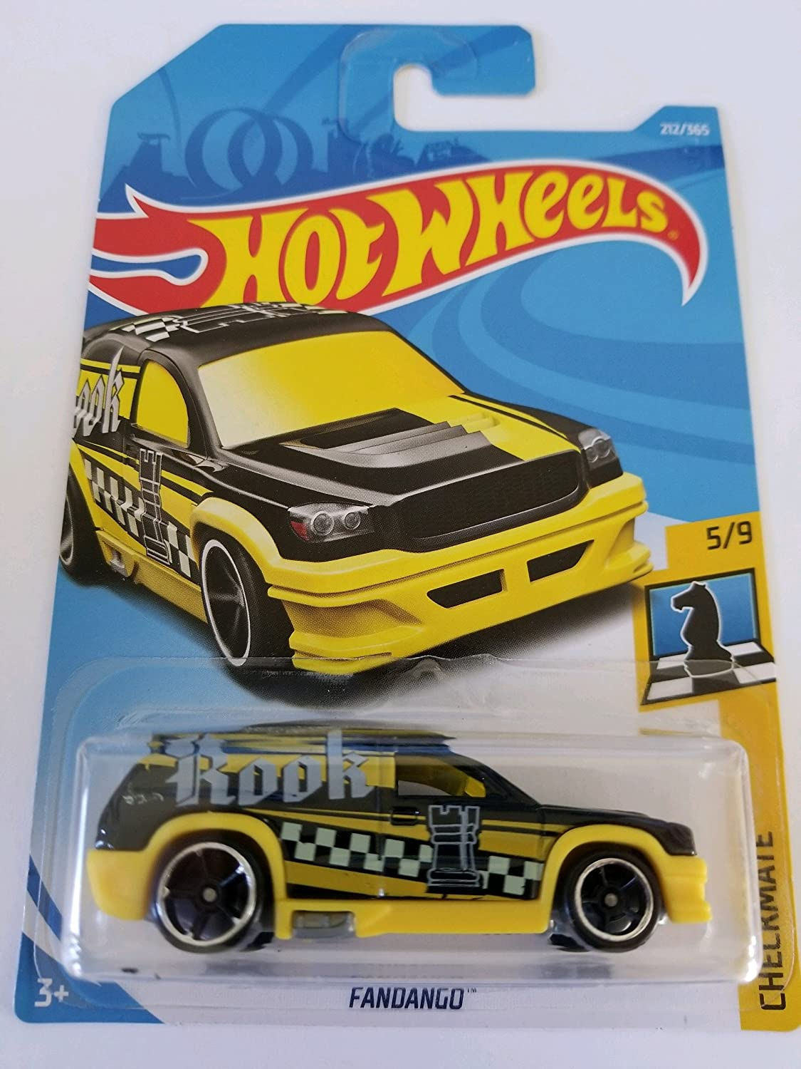 336//365 Rook White and Yellow Hot Wheels 2018 50th Anniversary Checkmate Fandango