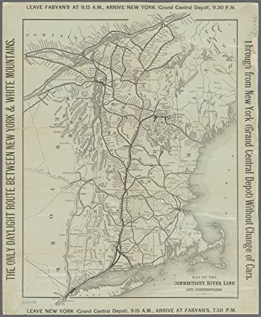 Amazon.com: Map Poster - Map of the Connecticut River Line and ...