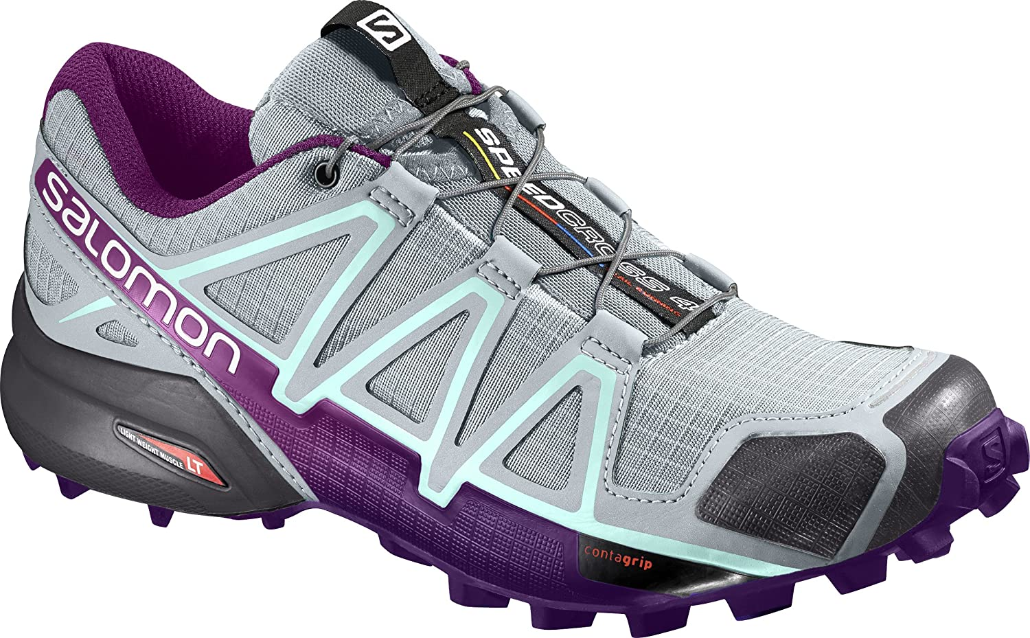 Salomon Women's Speedcross 4 W Trail Runner B01HD2RYA6 6 M US|Quarry