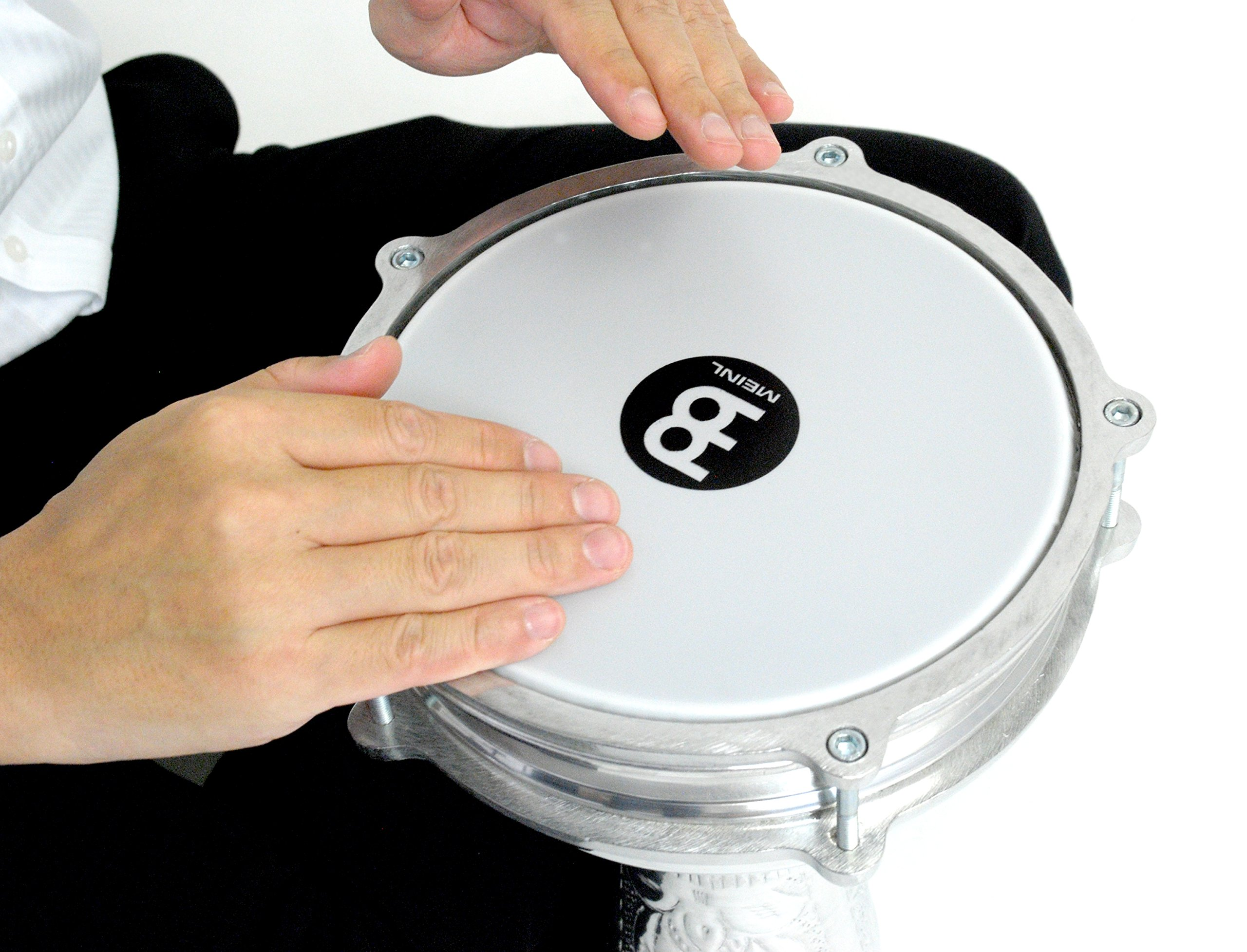 Meinl Percussion Darbuka with Hand Hammered Aluminum Shell-Made in Turkey-8'' Tunable Synthetic Head, 2-Year Warranty (HE-114) by Meinl Percussion (Image #2)