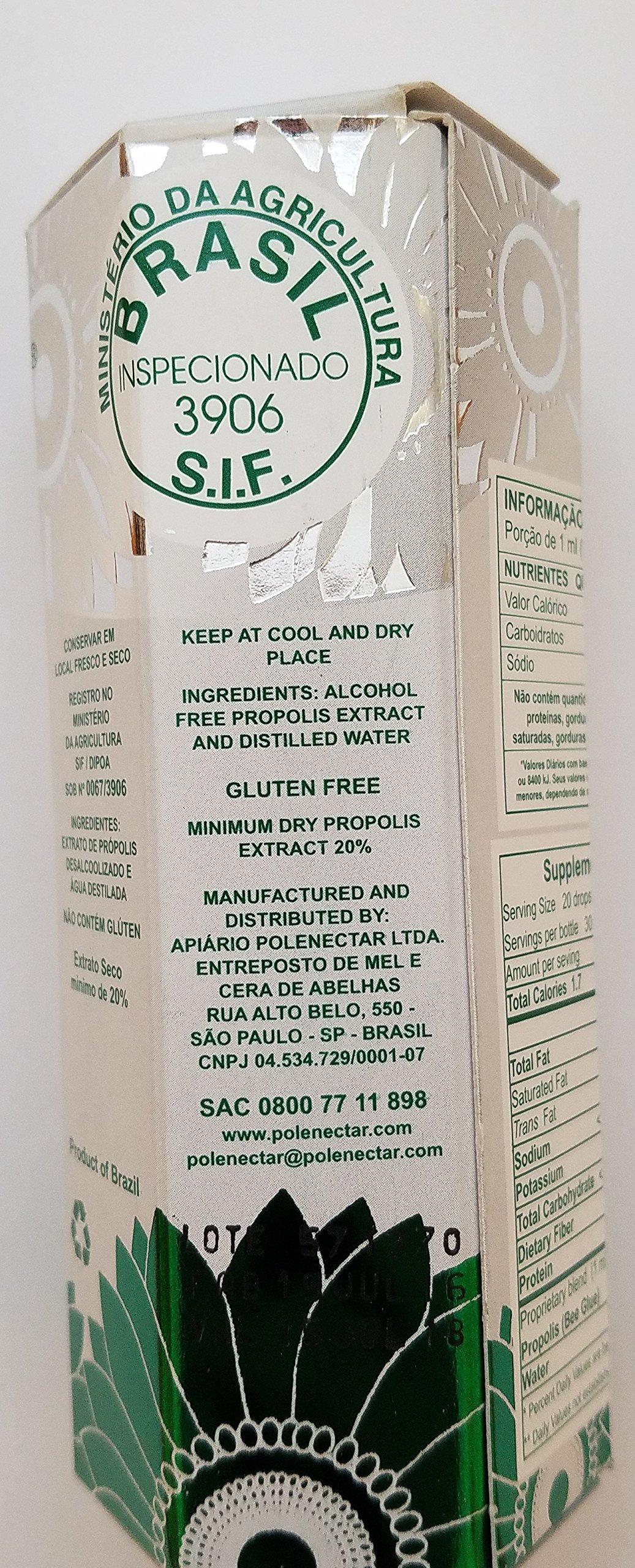 Polenectar 5 Bottles Green Propolis Crystal - Aqueous Solution Extract 30ML by Polenectar
