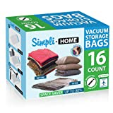 Amazon Price History for:SimpliHome 16 Pack Extra Jumbo Storage Travel Space Saver Bags, Work w/ Any Vacuum Cleaner