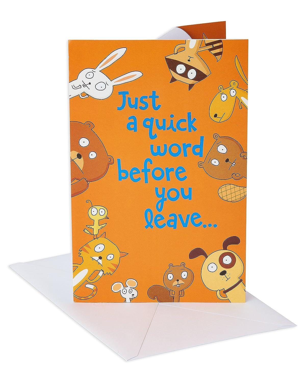 Amazon American Greetings Funny Animals Goodbye
