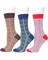 EBMORE Women's Retro Pattern Warm Soft Cotton Winter Socks- 3 Pack