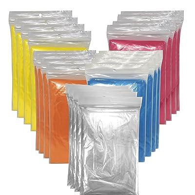 20x Cape de pluie poncho de pluie avec capuche/XXL d'encens/étanche/– Poncho d'urgence–plusieurs couleurs