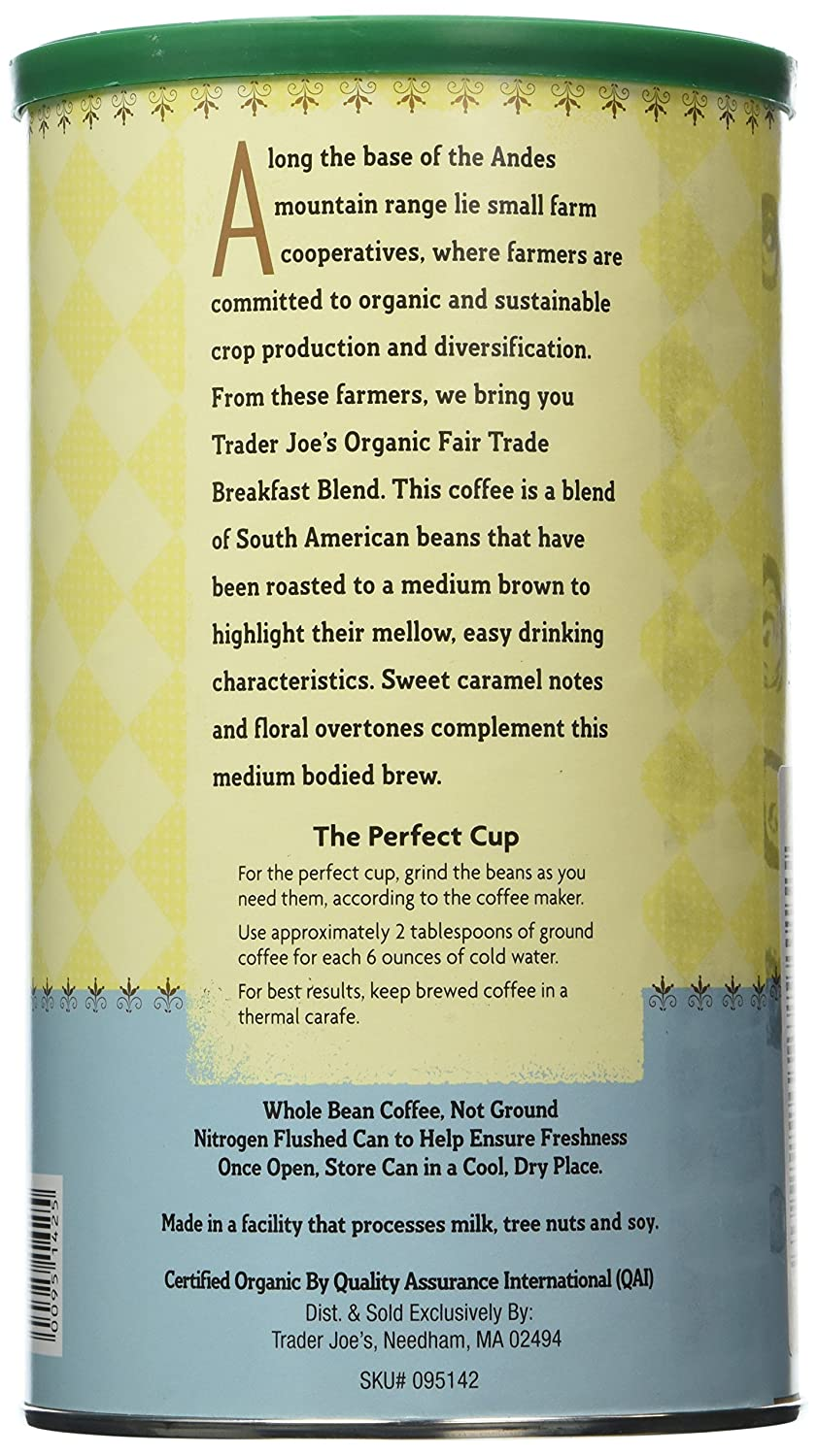 trader joe's organic coffee
