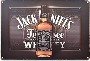 K&H Black Jack Daniels Retro Distressed Metal Tin Sign Posters Wall Decor 12X8-Inch (Jack Daniels)