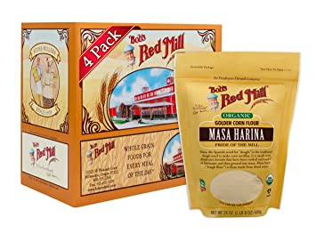 Bobs Red Mill Organic Masa Harina Flour, 24-ounce (Pack of ...