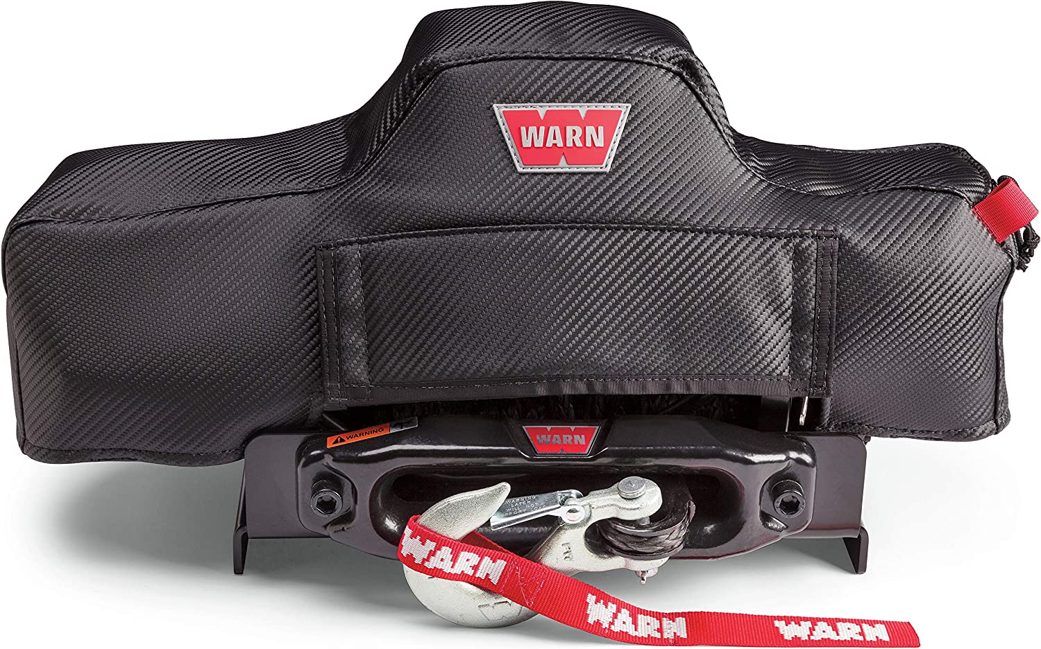 WARN 102642 Stealth Series Winch Cover, Fits: VR8, VR10, VR12