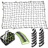 Seah Hardware 4 x 6 FT Super Duty Bungee Cargo Net for Truck Bed Stretches to 8 x 12 FT | 24 Pieces Universal Hooks…