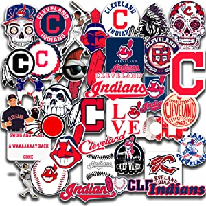 Stickers Pack Cleveland Vinyl Indians Aesthetic Stickers Pack of 40 pcs