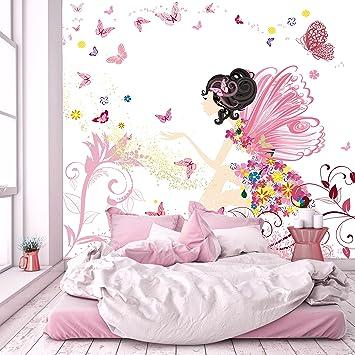 Murimage Fototapete Kinderzimmer 2745 X 254 Cm Fee Blumen