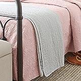 """Stone & Beam Locklar 100% Cotton Lightweight Pick-Stiched Blanket, 80"""" x 60"""", Grey"""