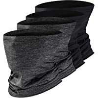 Vetoo Loop Face Scarf Tube Balaclavas, 6-Pack Headband Bandana for Men Women