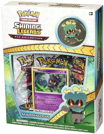 b64d157cc Amazon.com: Pokemon Sun & Moon 3.5 Shining Legends Marshadow Pin ...